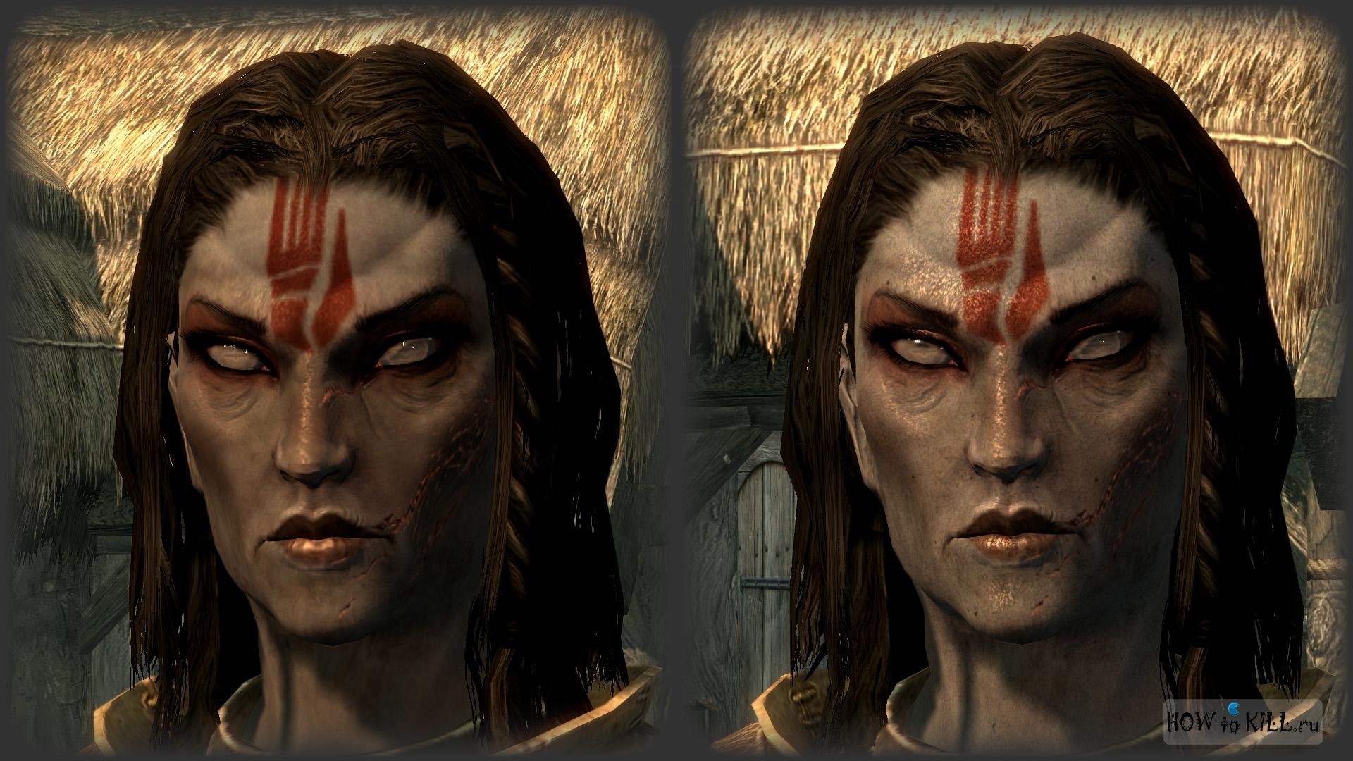 Как сделать красивое лицо женщине в скайриме