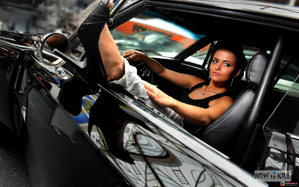 Только красивые девушки брюнетки фото с машиной