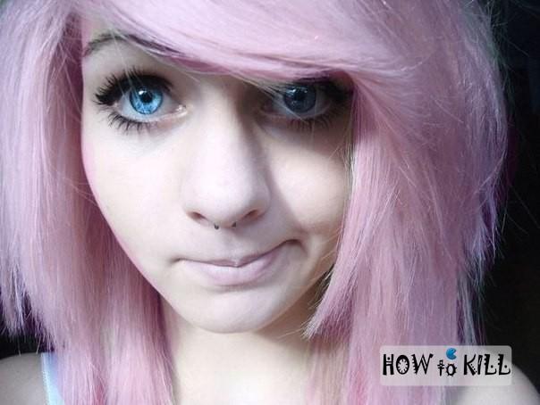 Фотографии девушки челкастика блондинки фото 313-957