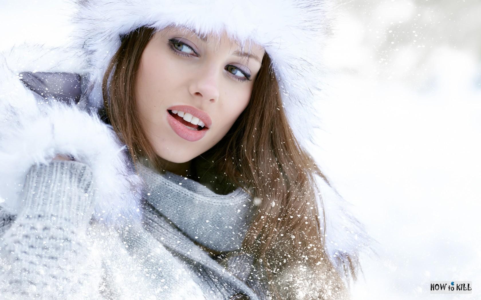 Картинки и фото девушек зимой