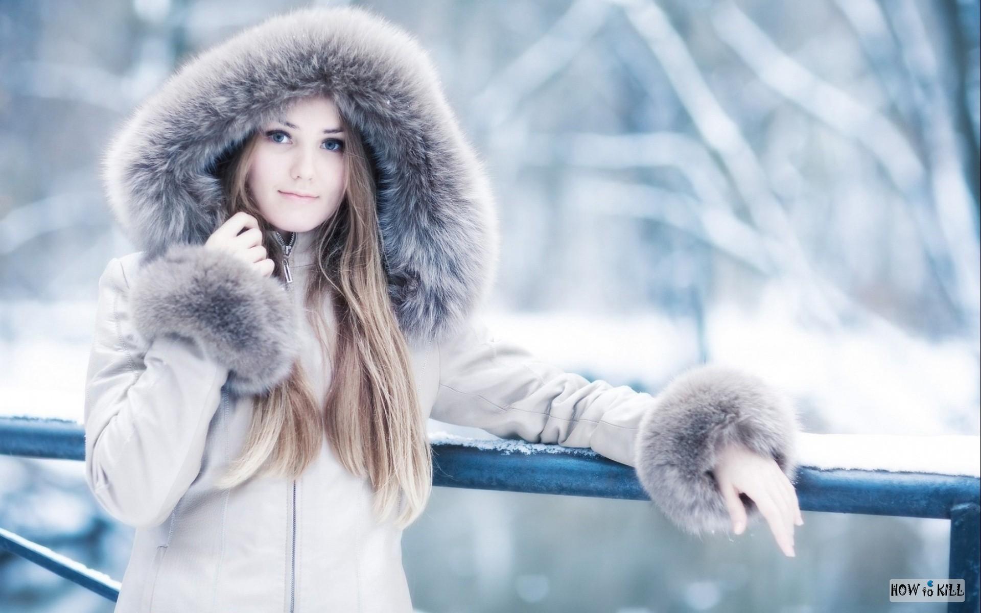 Девушек зимой