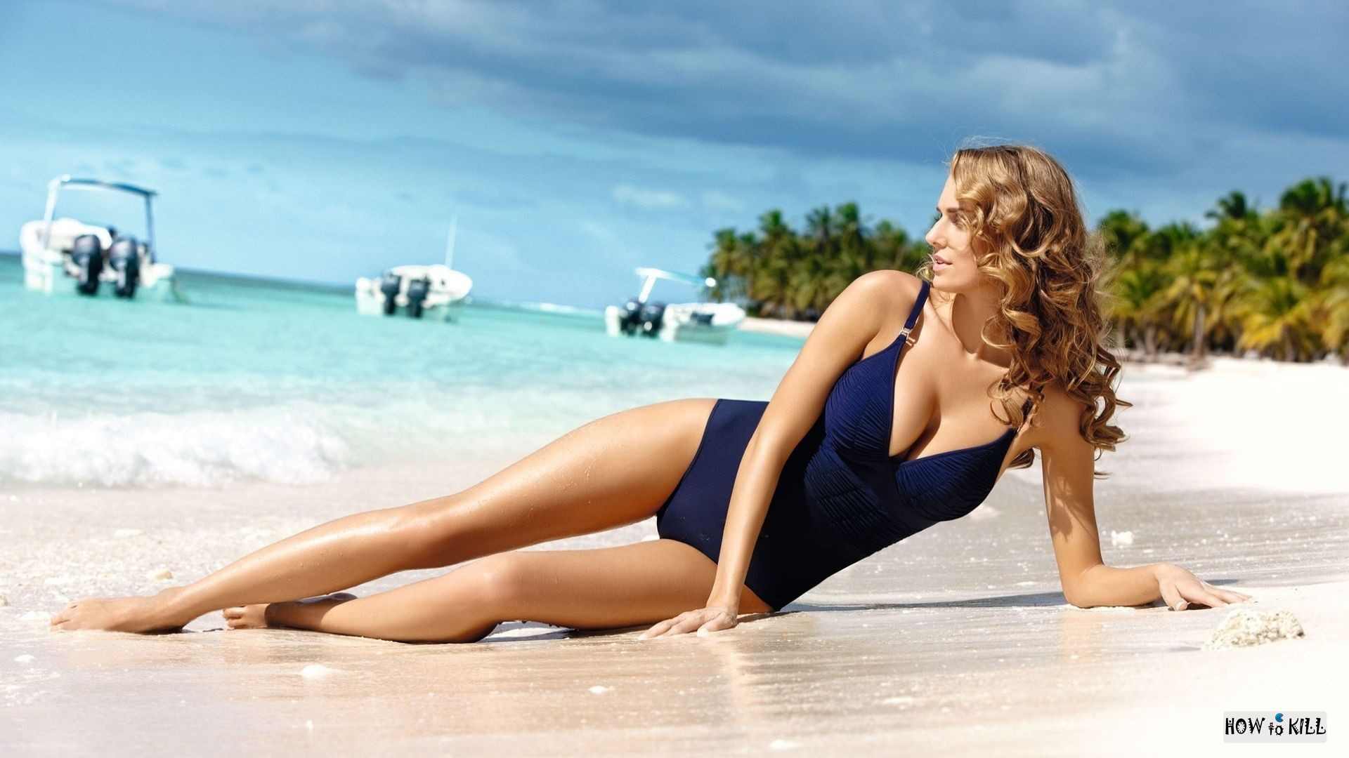 Красивое фото девушек пляже